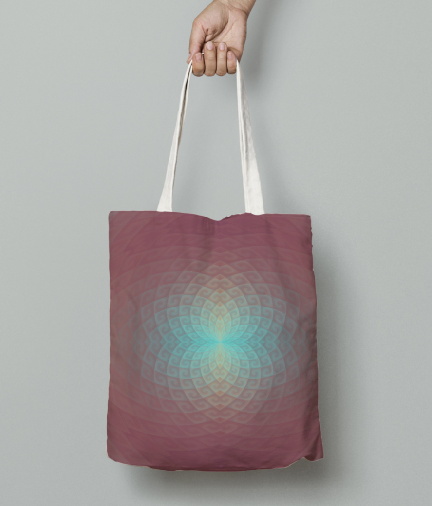 A tote bag front