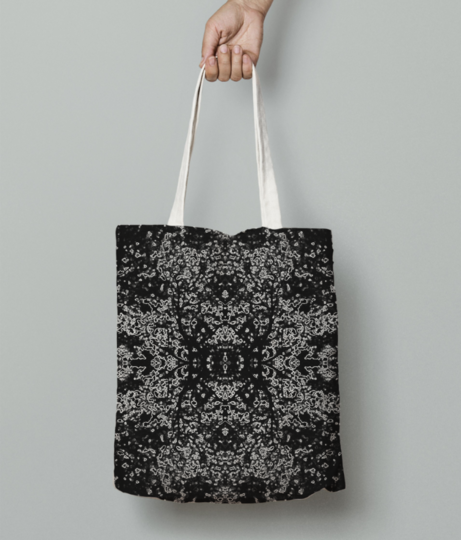 Abstract leaf tote bag front