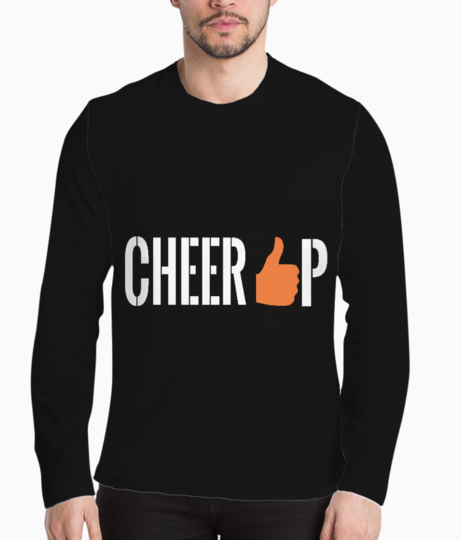 Cheer up  white henley front