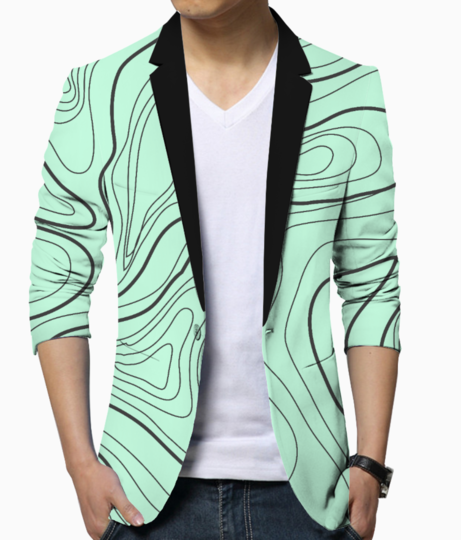 Abstract art 3 blazer front