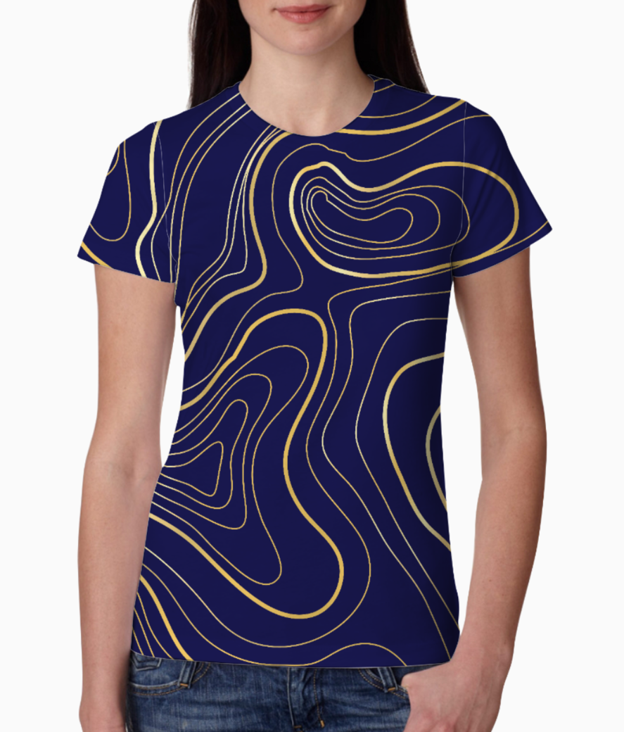 Abstract art tee front