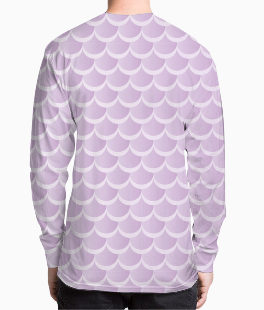 Violet pastel mermaid pattern henley back