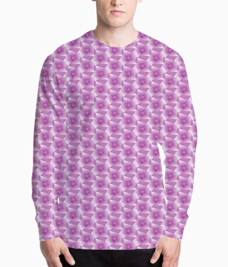 Rose seamless pattern background henley front