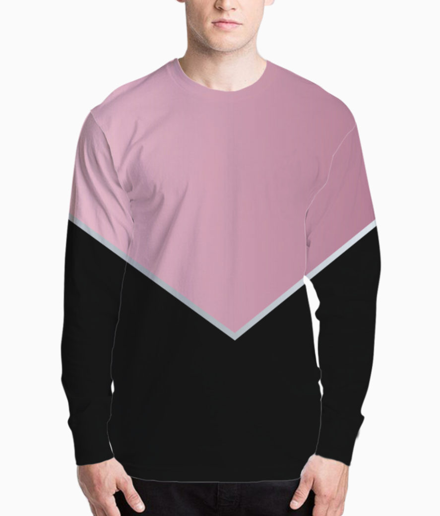 Pinky modern abstract henley front