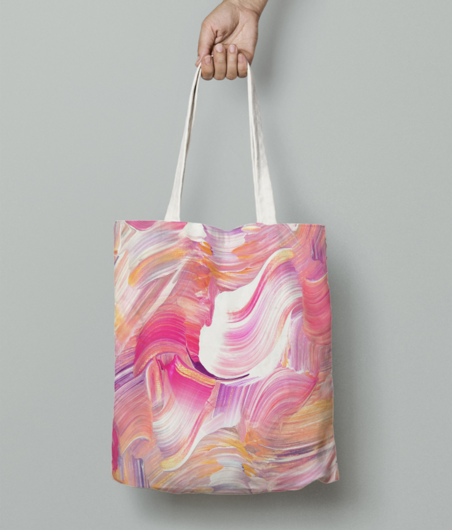 Paint shades tote bag front