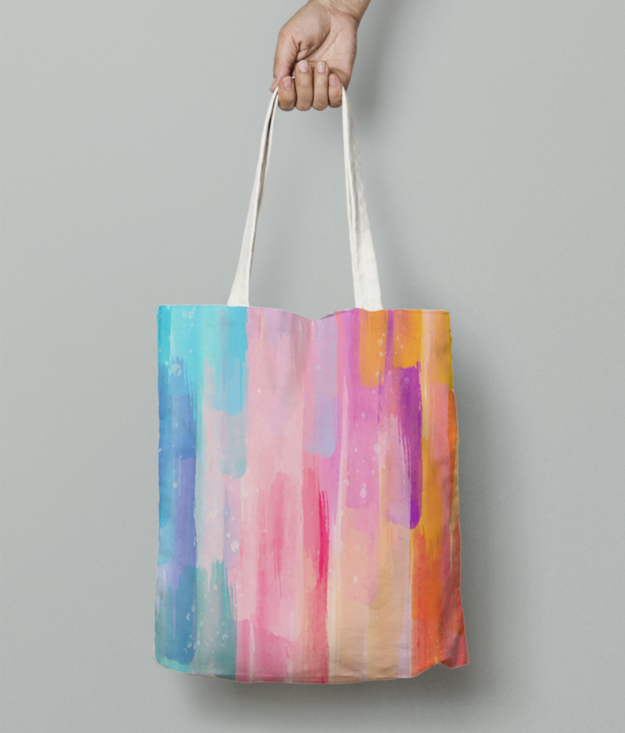 Painted shades tote bag front