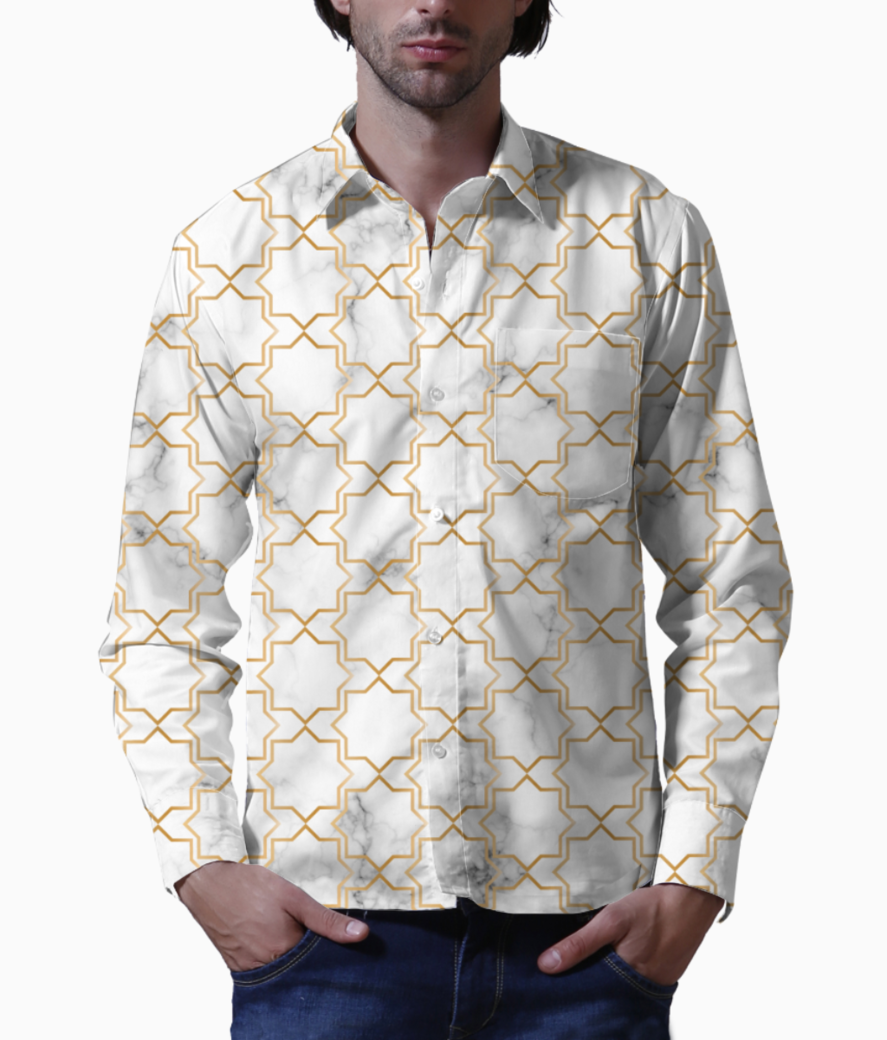 Art deco art  9 basic shirt front