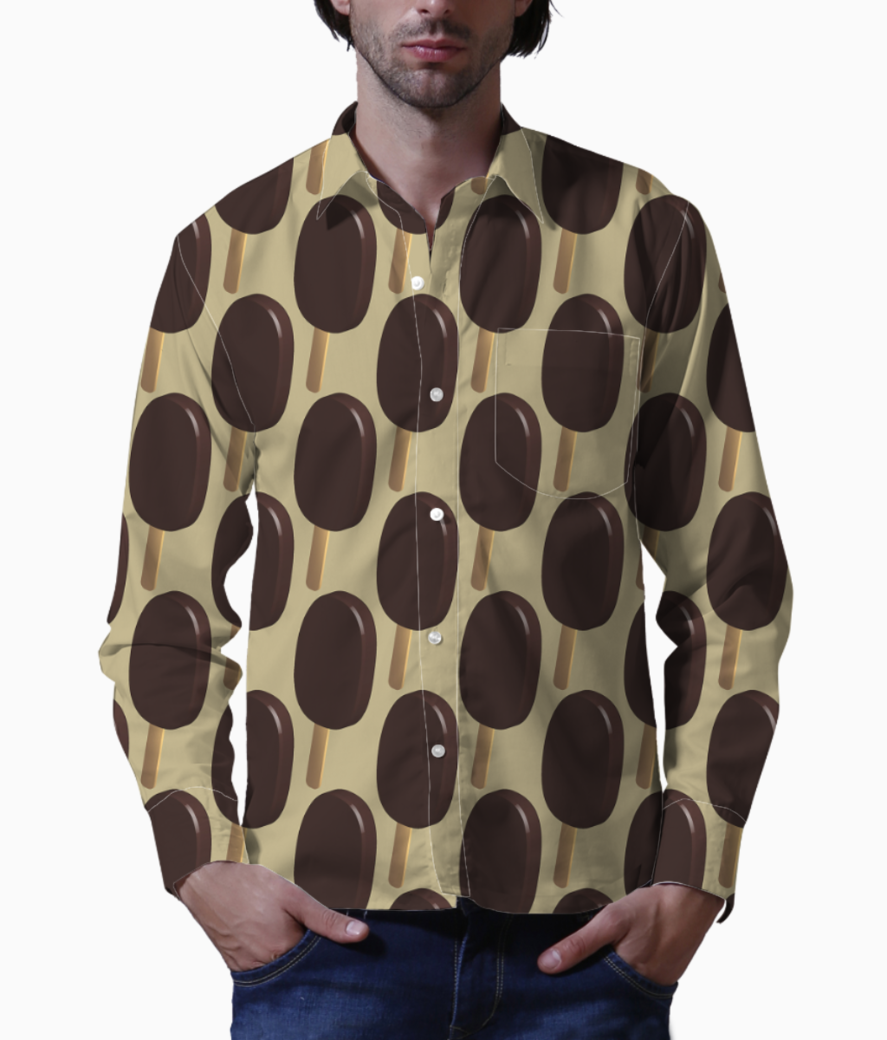 Chocolate rain basic shirt front