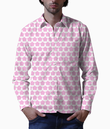 Abstract pink white seamless pattern background basic shirt front