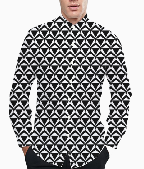 Ancient tribal seamless pattern background basic shirt front