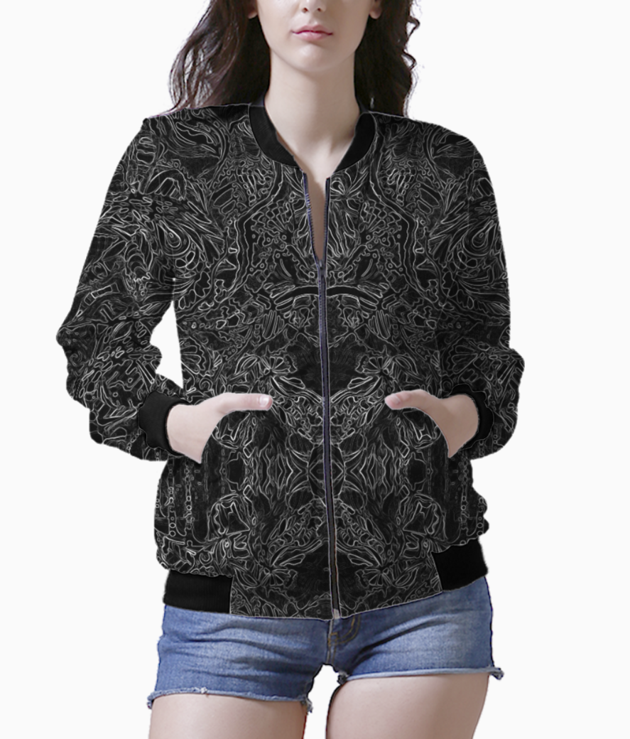 Abstract blue %282%29 bomber front