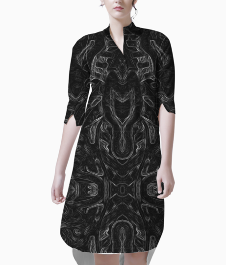 Abstract atribal kurti front