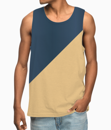 Abstract royal blue vest front