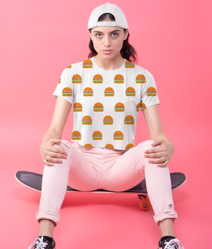 Burger crop top front