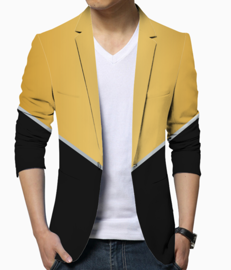 Modern abstract blazer front
