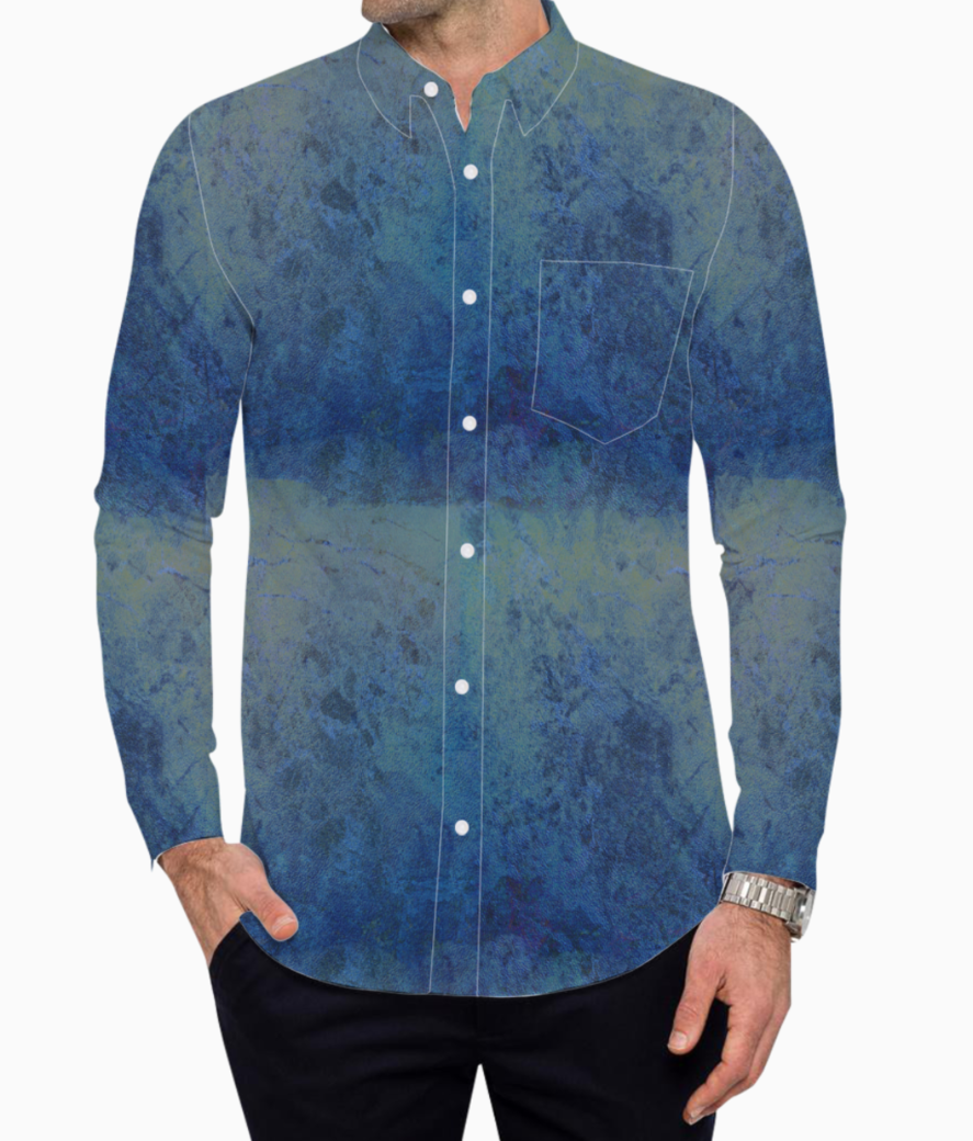 Blue marble basic shirt front
