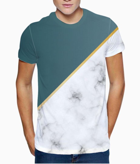 Abstract modern earthstone marble t shirt front