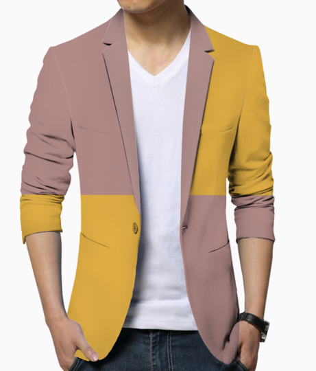 Double shade fabric blazer front