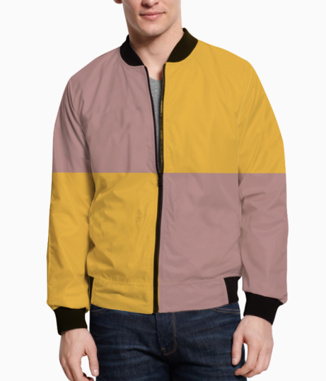 Double shade fabric bomber front