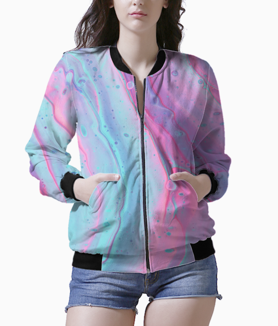 Pink wave bomber front