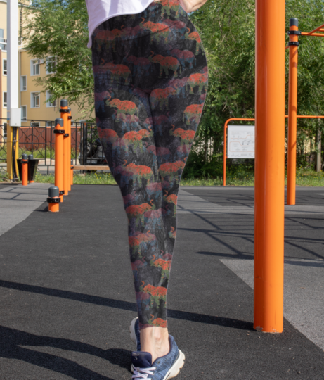 Pixelephant leggings front