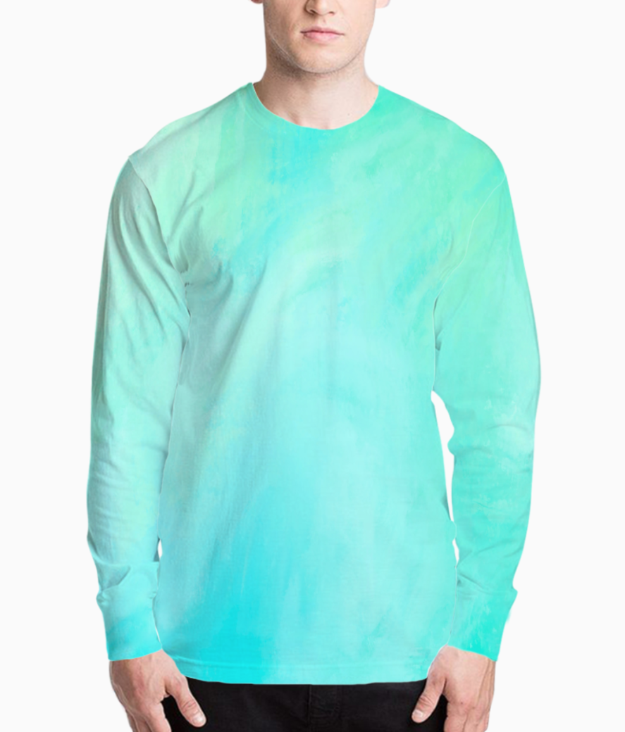Blue green shades henley front