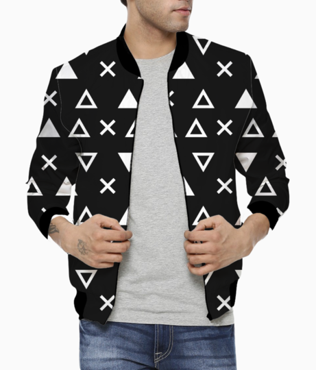 Geo abstract triangles bomber front