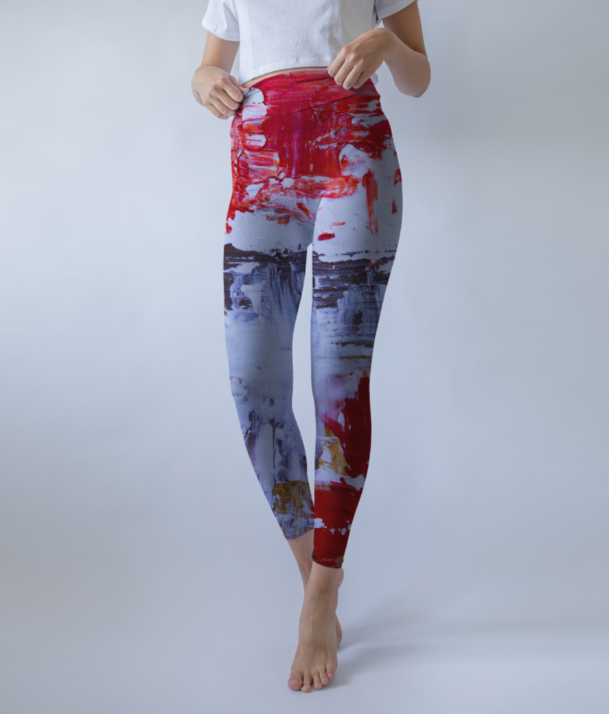Abstract dash leggings front