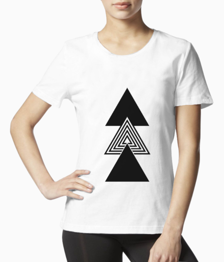 Abstract triple triangle tee front