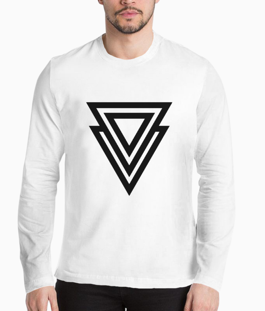 Double triangle arrow henley front