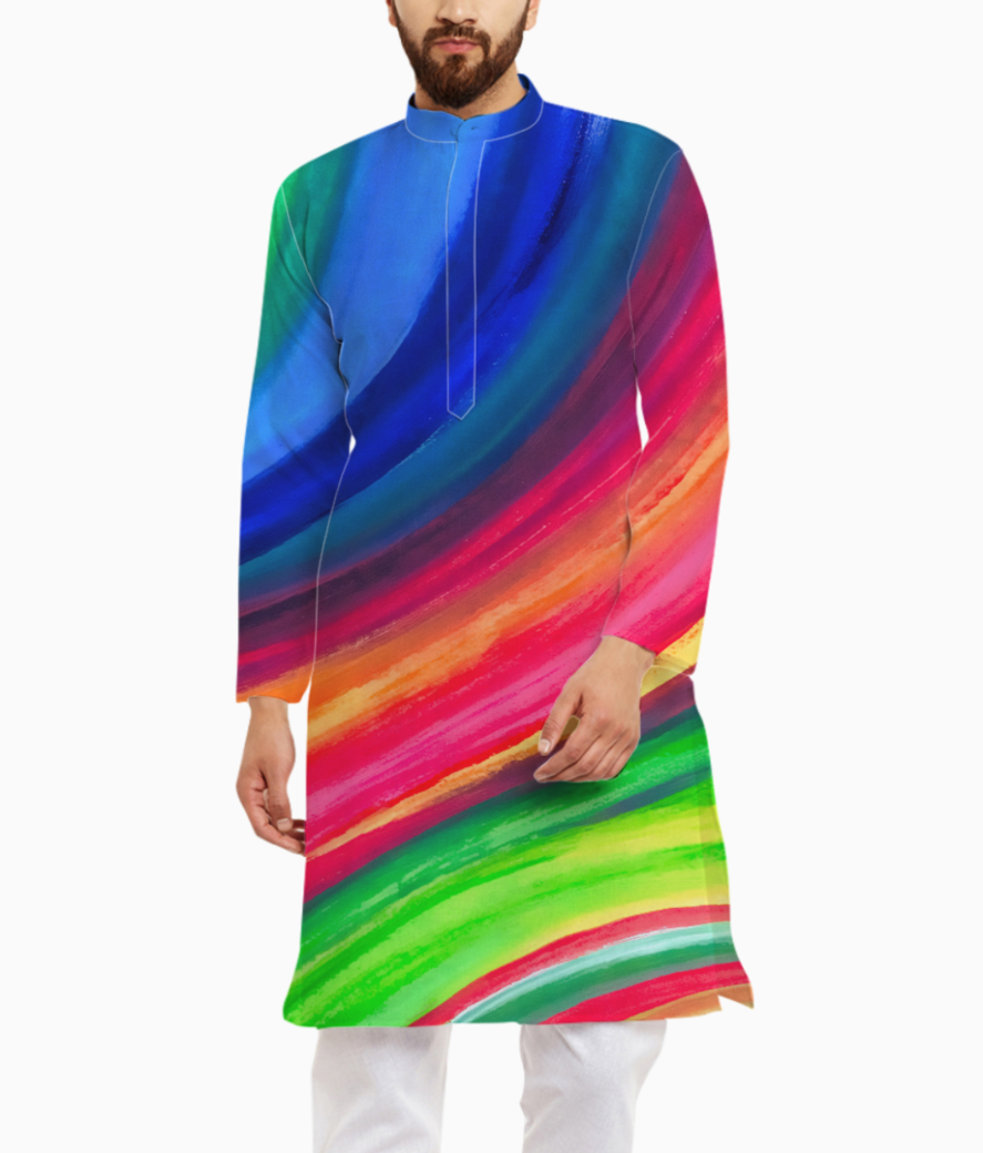 Color wave kurta front