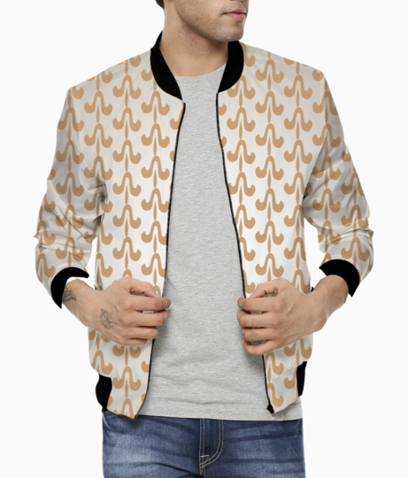 Indian tribal style seamless pattern bomber front