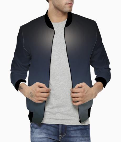 Night blurred abstract bomber front