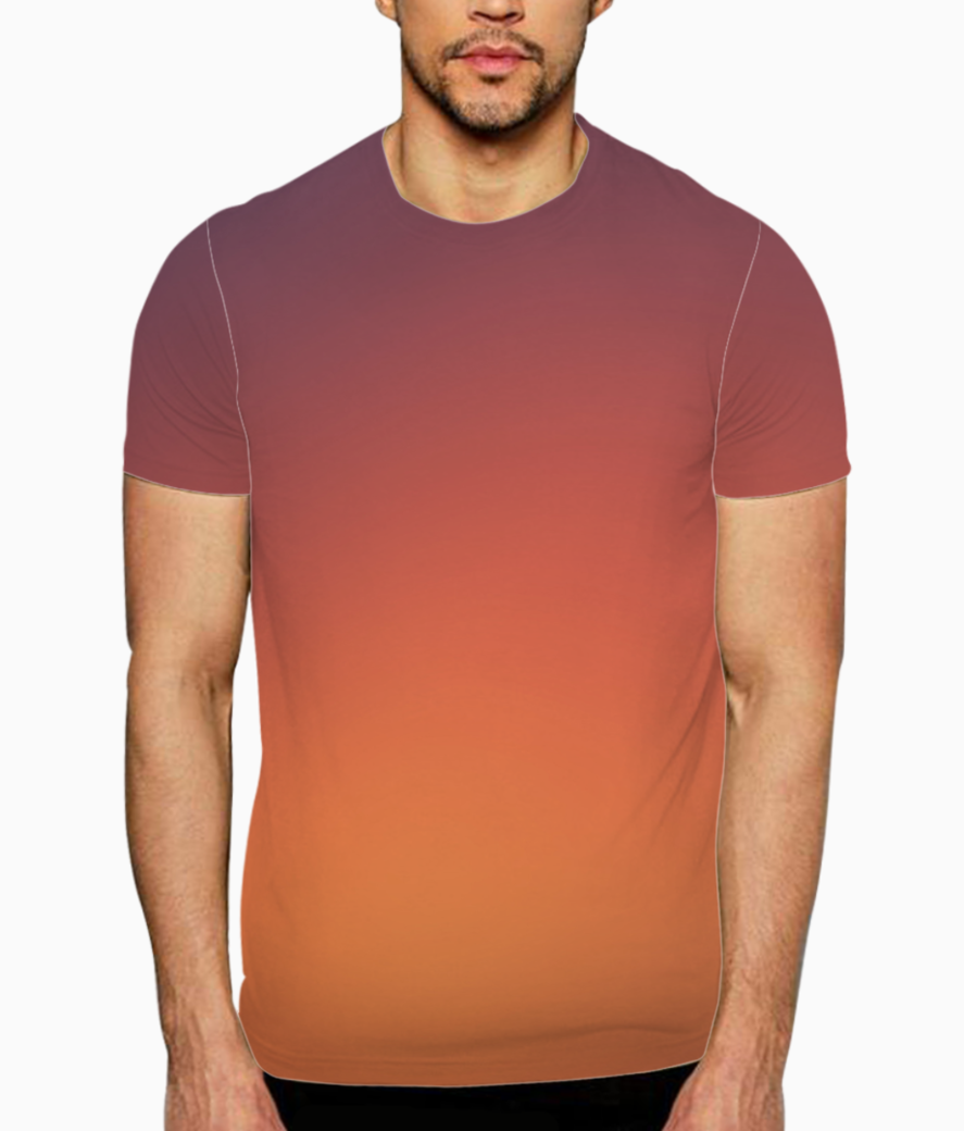 Red to black gradient t shirt front