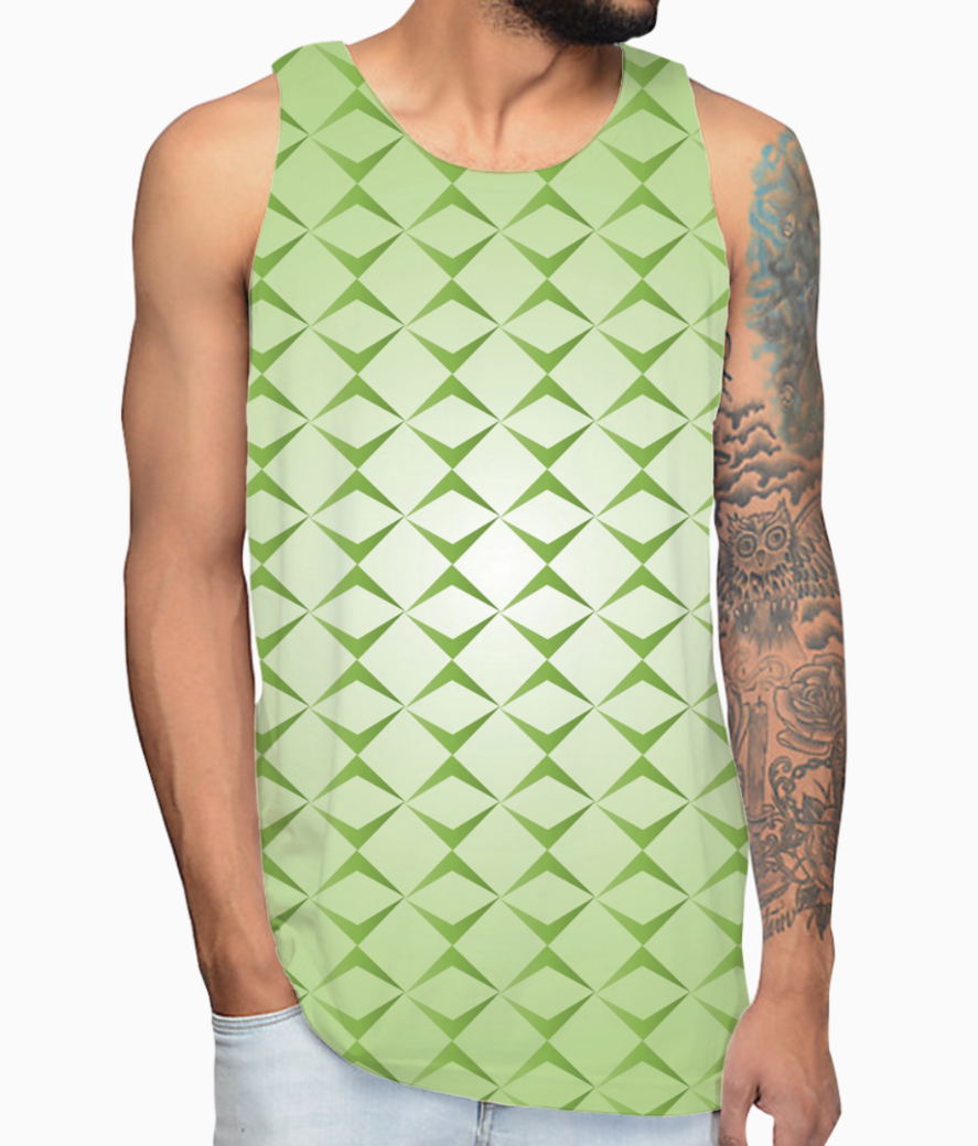 Abstract green seamless pattern vest front