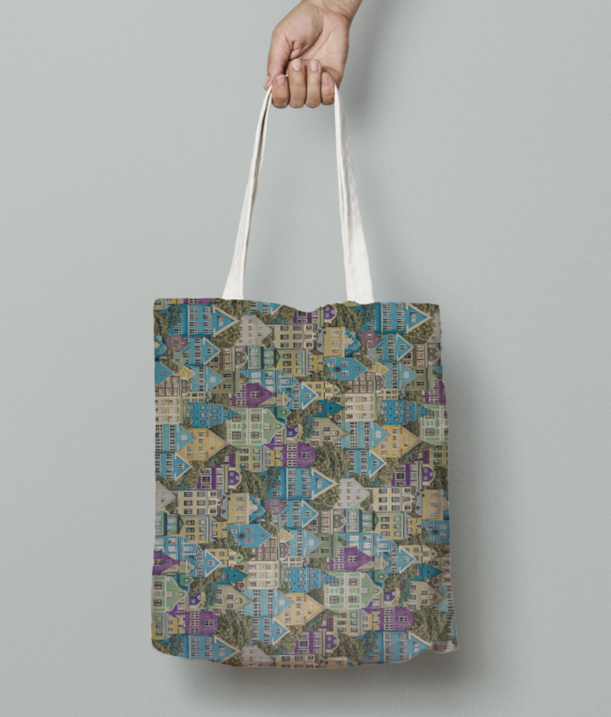 Marla pale tote bag front