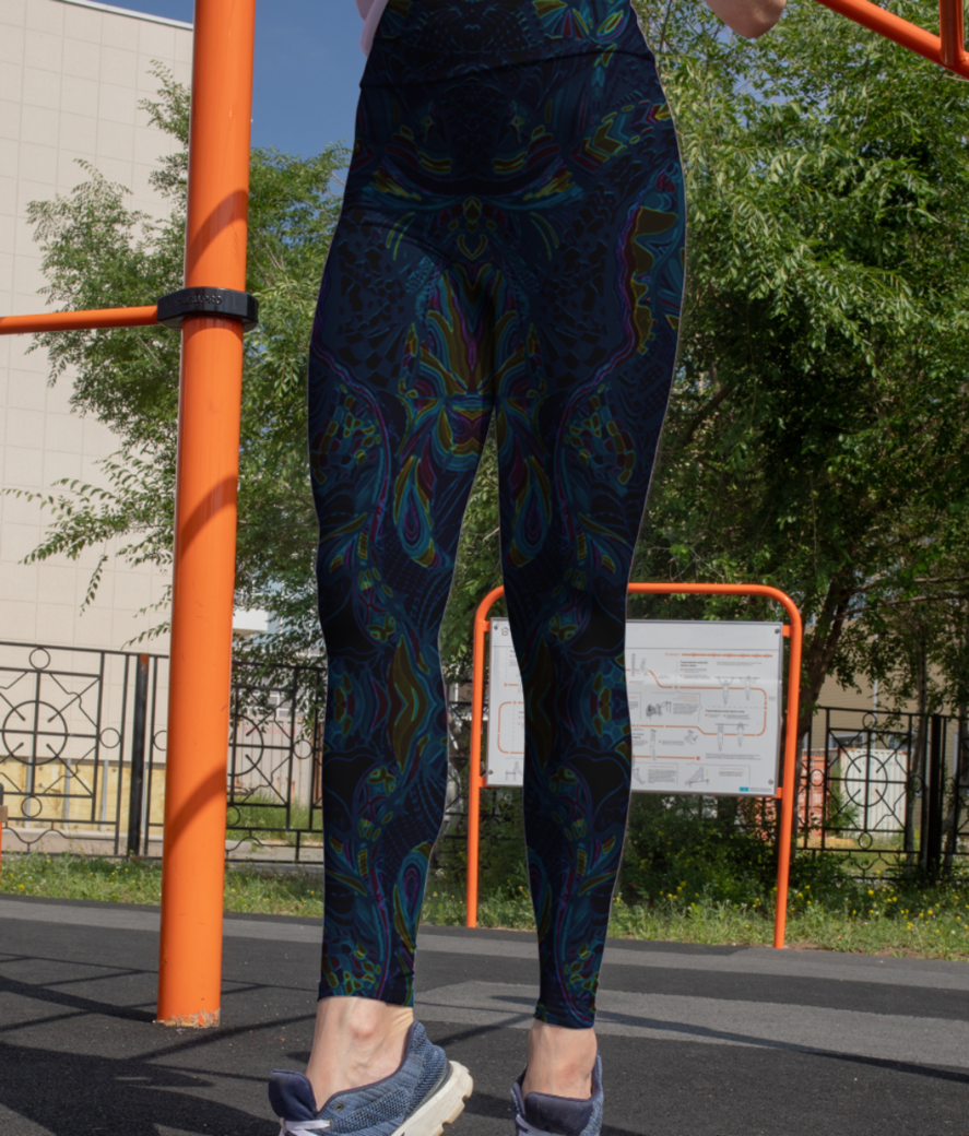 Abstract imprints leggings front