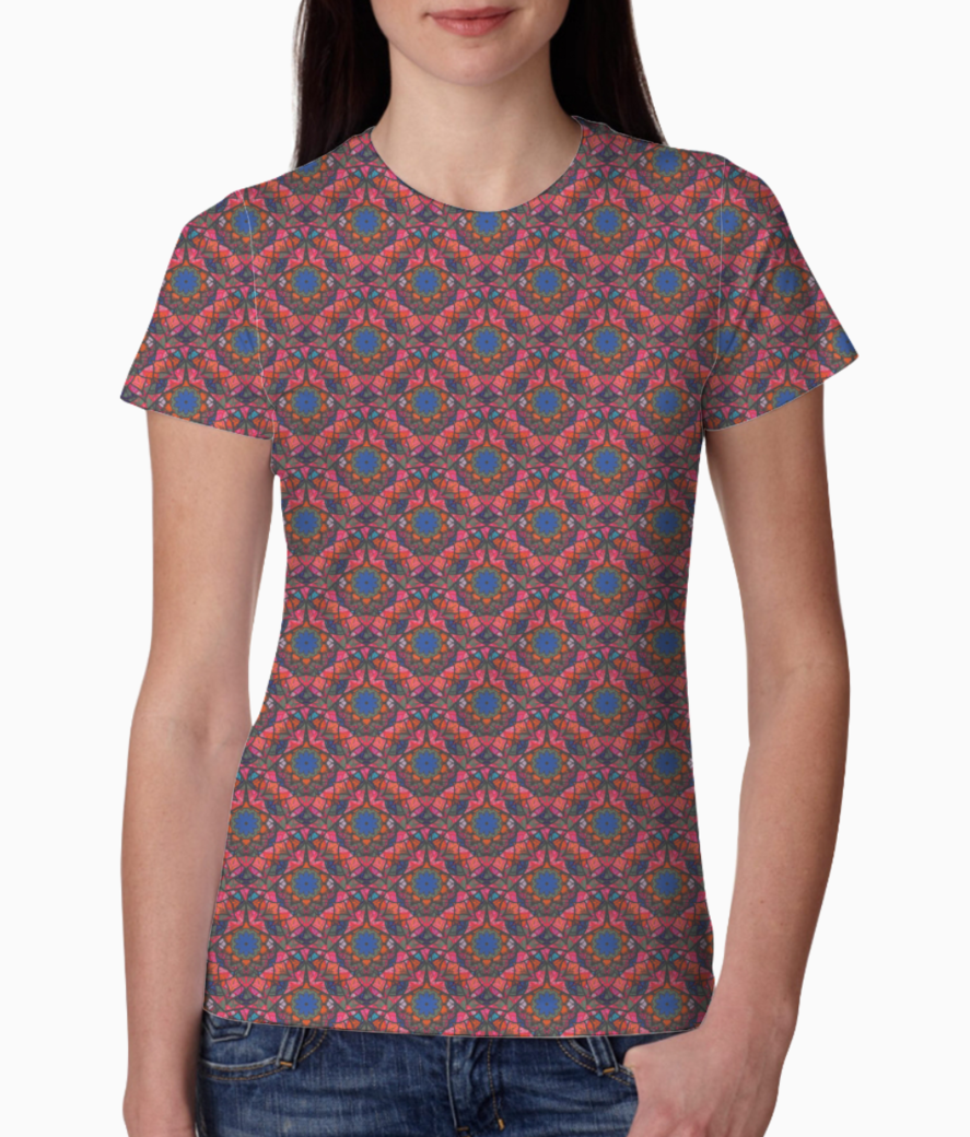 Floral land tee front