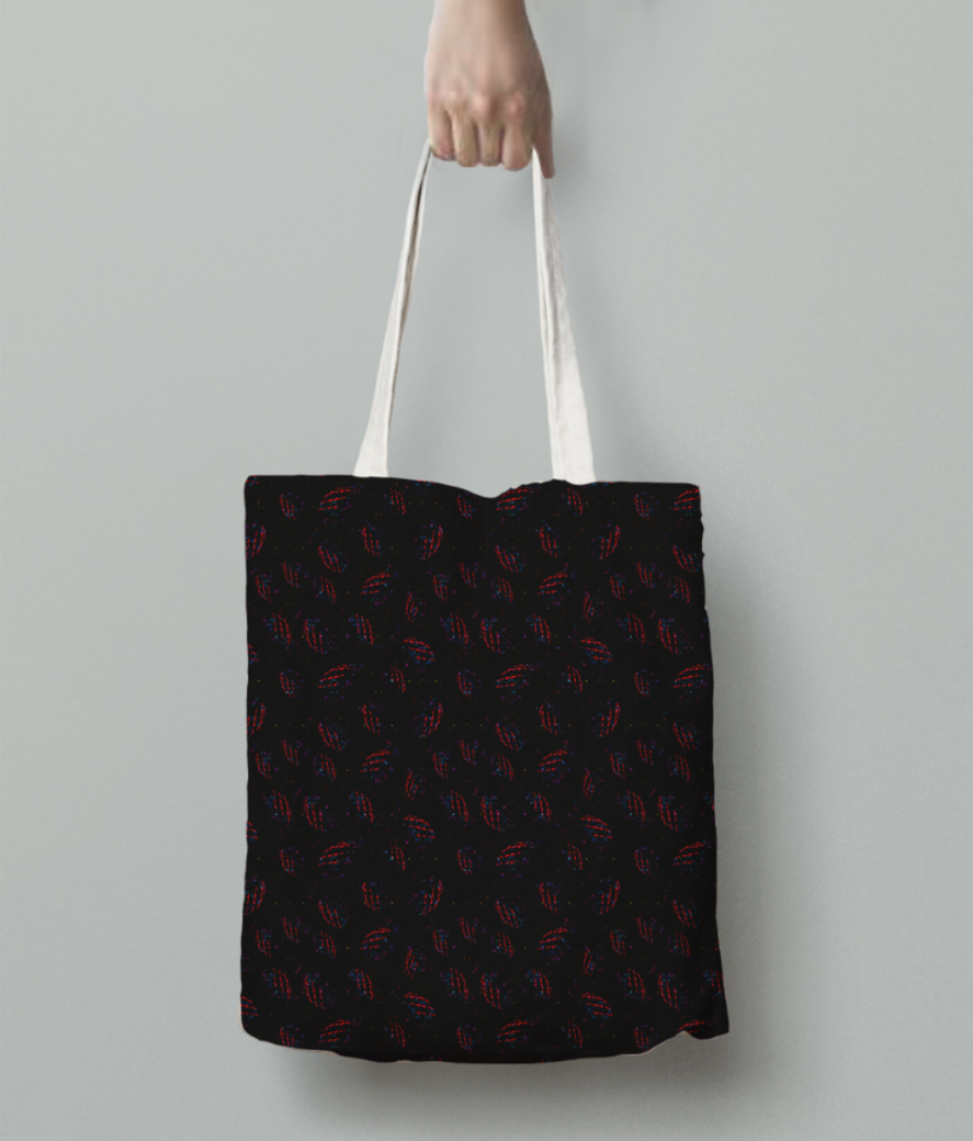 Black magic tote bag back