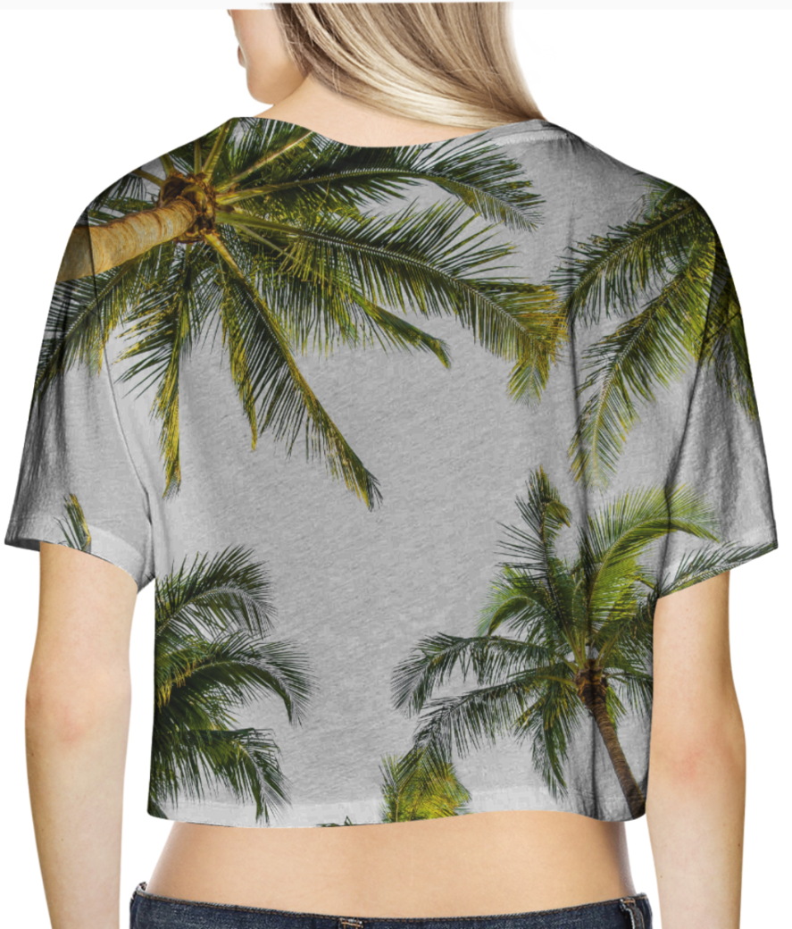 Coconut fall crop top back