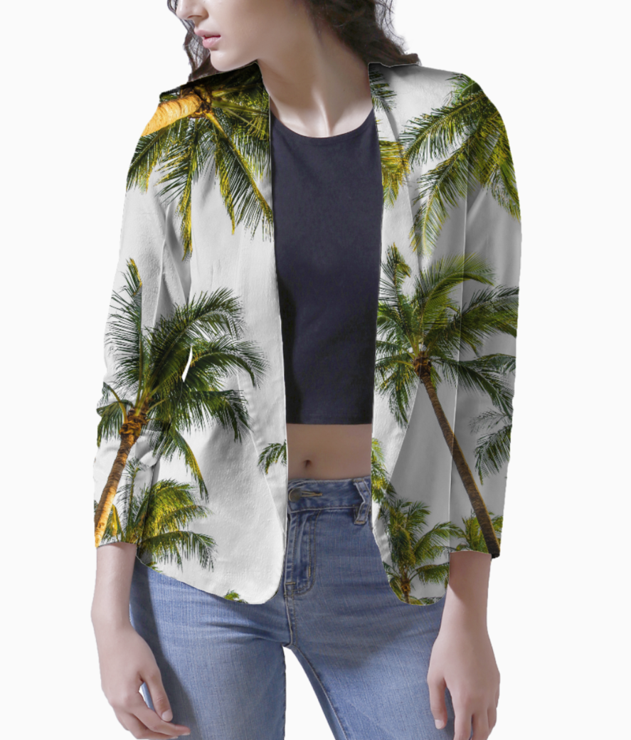 Coconut fall blazer front