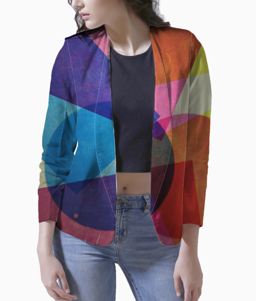 Colour shapes blazer front