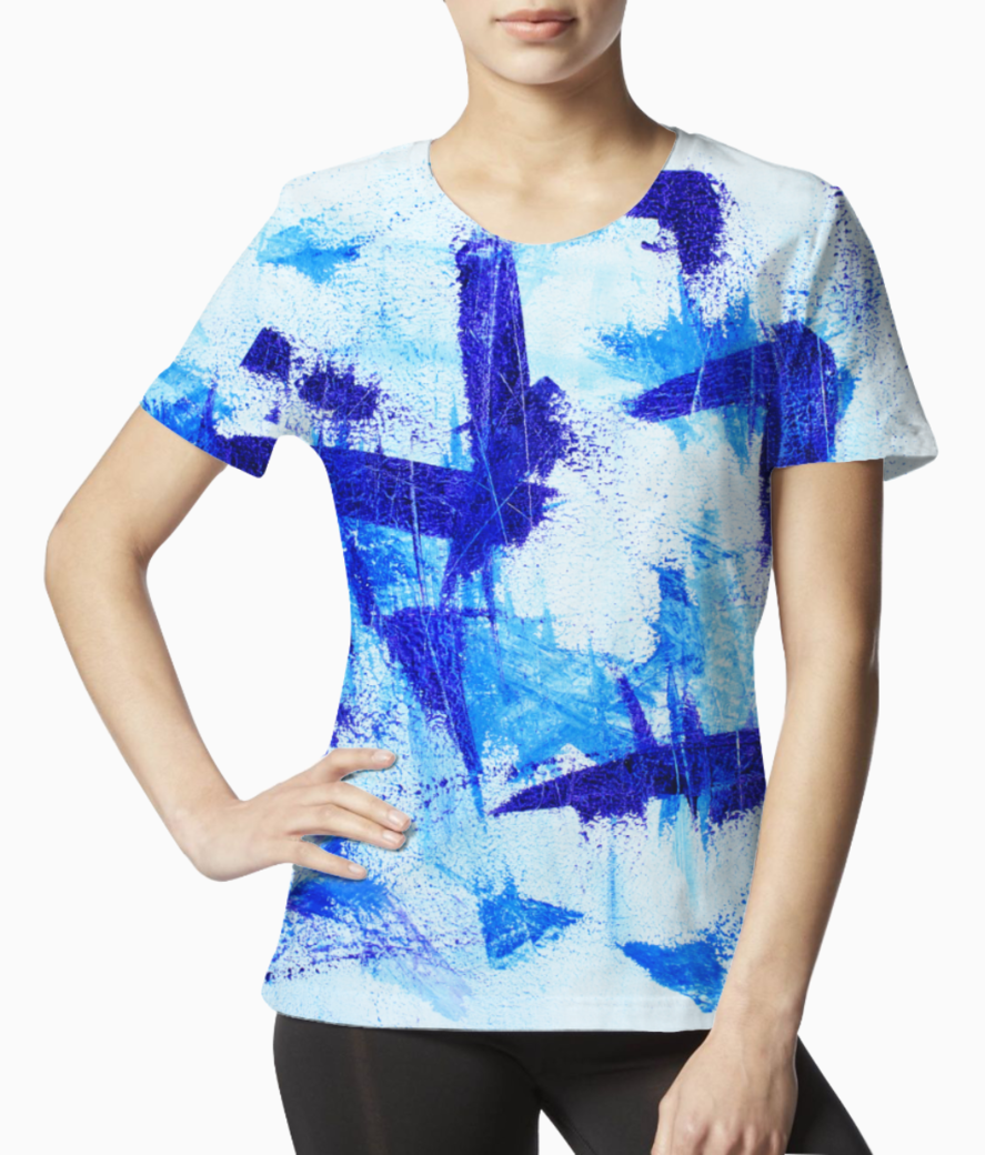 Blue impression tee front