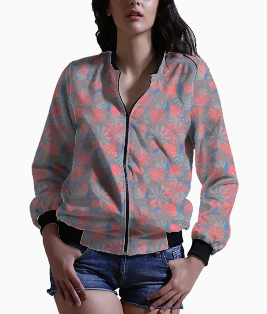 Flowers in heaven bomber front
