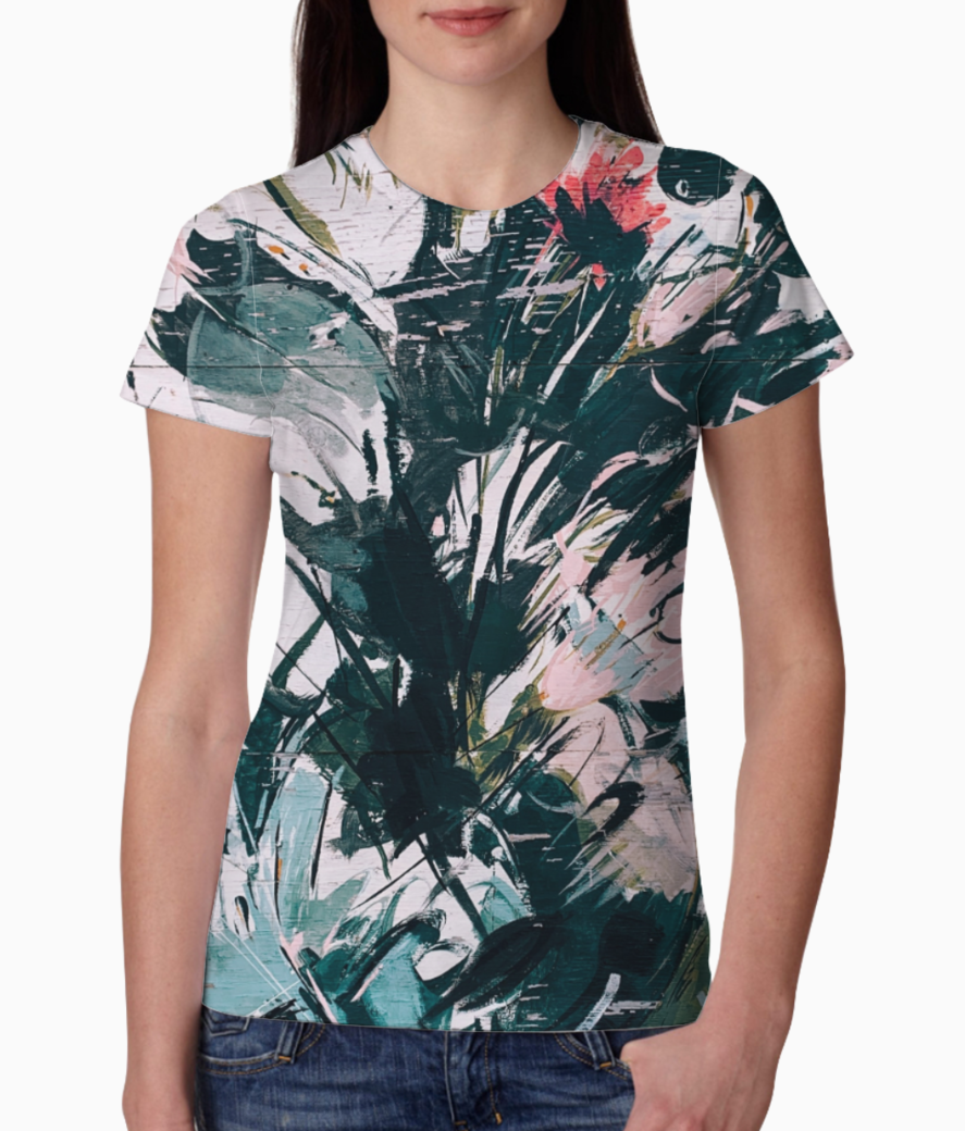 Splashy islands tee front