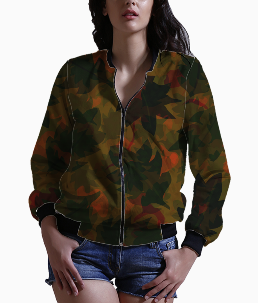 Dry leaves bomber front
