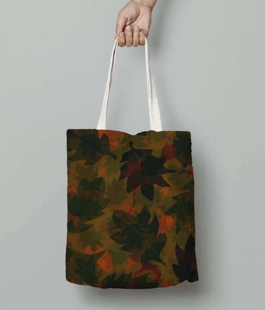 Dry leaves tote bag front