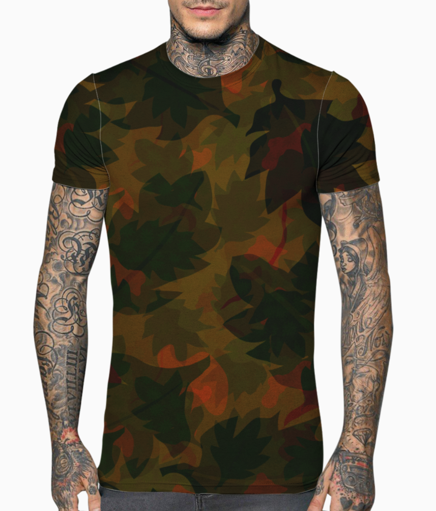 Dry leaves t shirt front