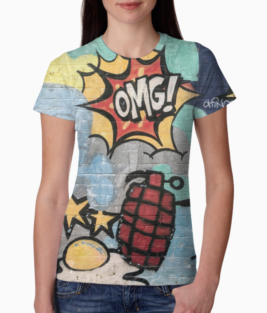 Cartoon explosion tee front