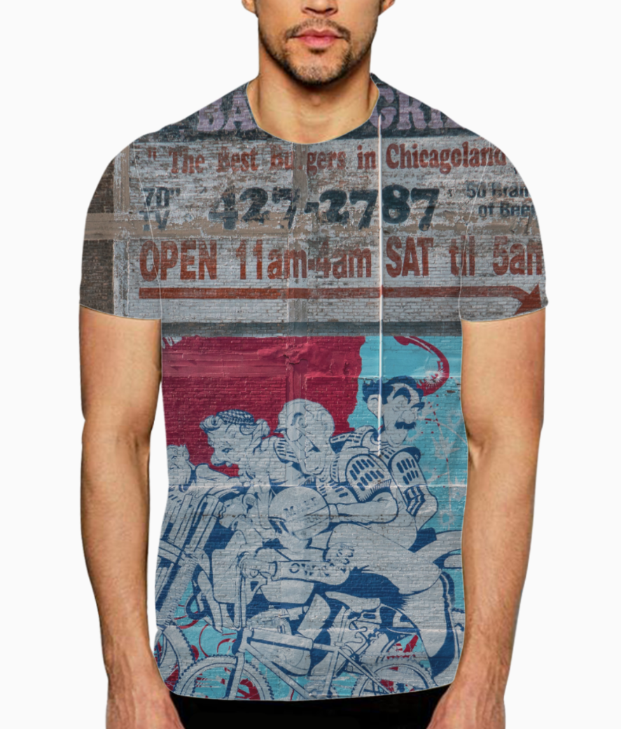 Bikers streets t shirt front